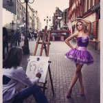 In Arbat street, Moscow. Photographer Daria Zaitseva
