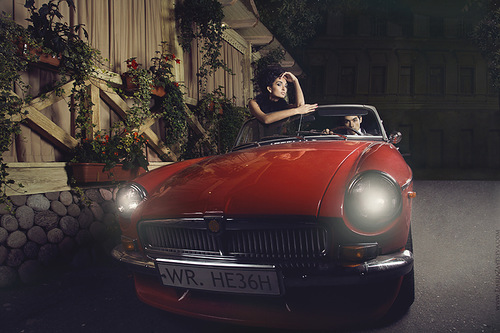 Red car. Photographer Daria Zaitseva