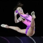 a twine in a jump. Evgeniya Kanayeva