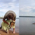 Schoep's owner John Unger took his beloved pet into the lake so that the water could sooth his arthritic pain