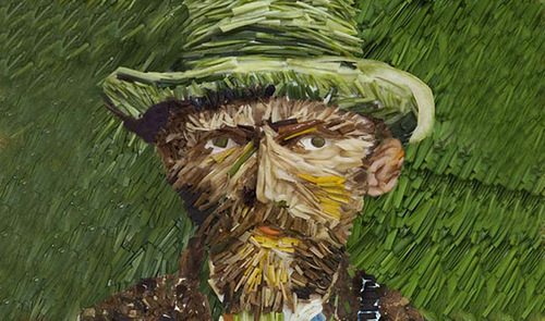 Self Portrait by Van Gogh leek (artist Ju Duoqi)