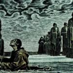 Soviet artist Savva Brodsky, illustration of 'Hamlet'