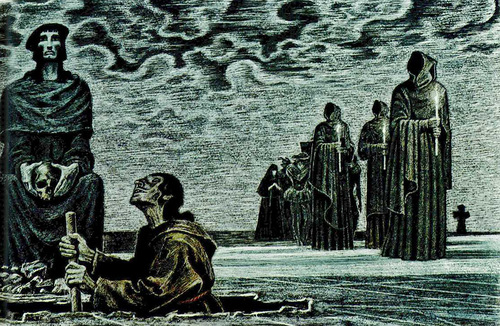 Soviet artist Savva Brodsky, illustration of 'Hamlet'
