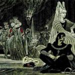 Hamlet. Shakespeare graphics by Soviet artist Savva Brodsky