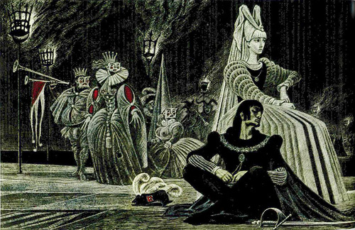 Hamlet. Shakespeare graphics by Soviet artist Savva Brodsky