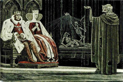 Gothic atmospere of Hamlet. Shakespeare graphics by Soviet artist Savva Brodsky