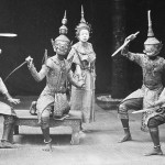 Staged Siamese dances, vintage photo