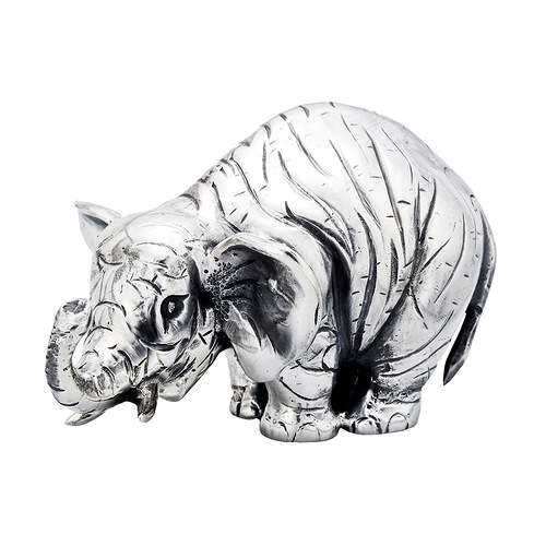 Small Silver Elephant Sculpture. $600