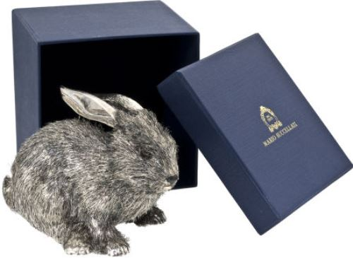 Small Silver Rabbit Sculpture. $750