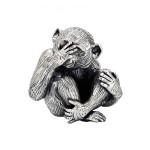 Small Silver 'See No Evil' Monkey Sculptureю $1,235