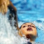 Russian swimmer Stanislava Komarova