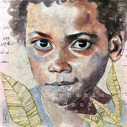 African diary. Collage drawings by French illustrator Stephanie Ledoux