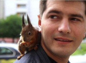 Taxi squirrel Masik and Pyotr Pankratov