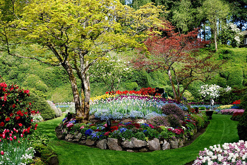 The Butchart Flower Gardens in British Columbia, Canada