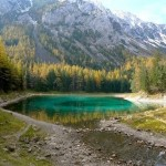 Beautiful landscape with the Green Lake