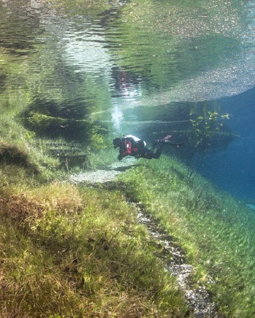 A mecca for divers keen to explore the rare phenomenon. The Green Lake