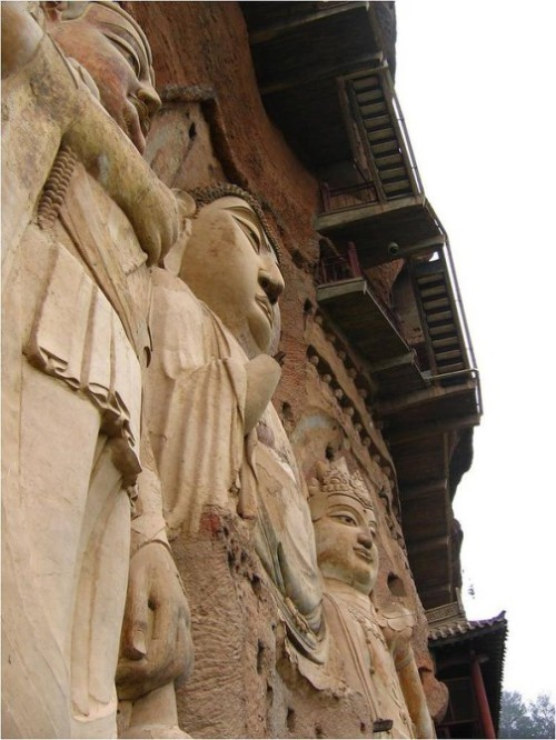 The Maijishan Grottoes masterpiece of cave architecture