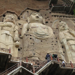 Beautiful art of rock carving and cave architecture – The Maijishan Grottoes. Gansu Province, China