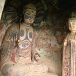 Stunning cave architecture – The Maijishan Grottoes. Gansu Province, China
