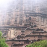 Picturesque Maijishan Grottoes. Gansu Province, China