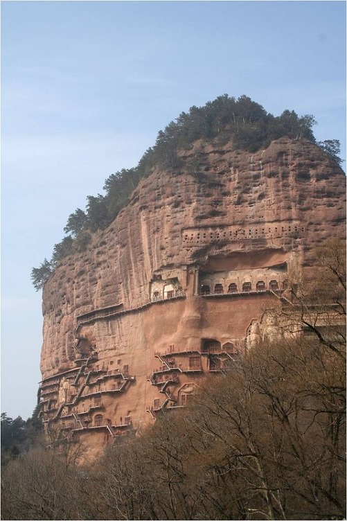 Chinese wonder – The Maijishan Grottoes. Gansu Province