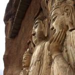Buddhas statues in The Maijishan Grottoes. Gansu Province, China