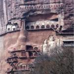 Amazing Cave architecture – The Maijishan Grottoes. Gansu Province, China