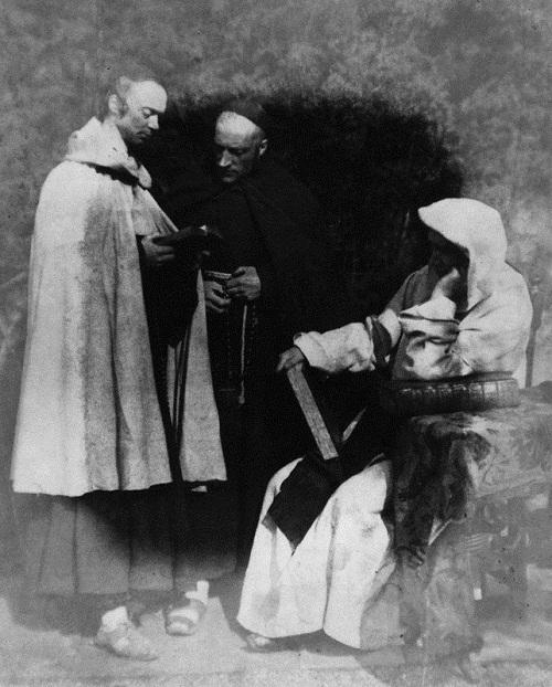 Robert Adamson pioneer photographer. The Monks of Kennaquhair