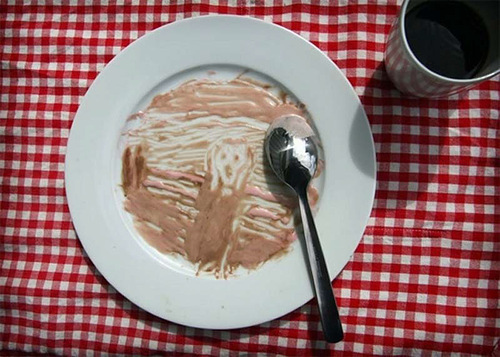 The Scream by Edvard Munch from the melted ice cream