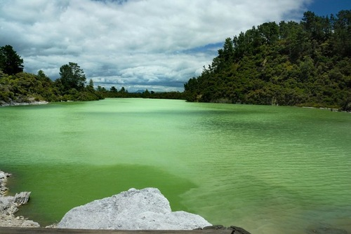 Lakes with water of amazing colors
