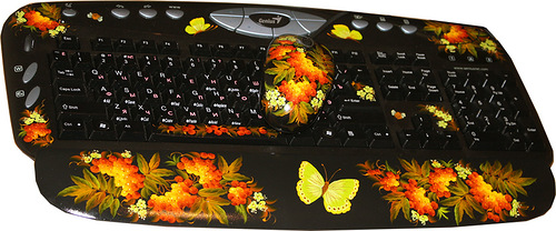 Exclusive painting on keyboard