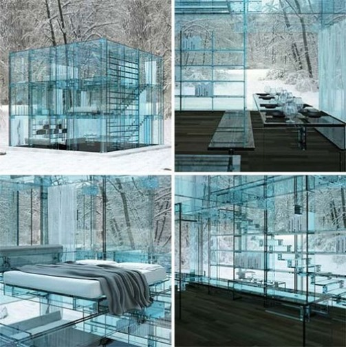 Glass House by Carlo Santambrogio and Ennio Arosio