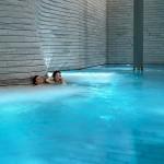 In the pool. Tschuggen Grand hotel in Arosa, Switzerland