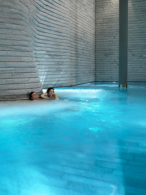 In the pool. Tschuggen Grand hotel in Arosa, Switzerland