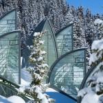 Winter view of Tschuggen Grand hotel in Arosa, Switzerland