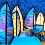Beautiful hotel and beautiful architecture of Tschuggen Grand hotel in Arosa, Switzerland