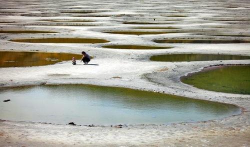 Beautiful spotted Lake Khiluk in British Columbia, Canada