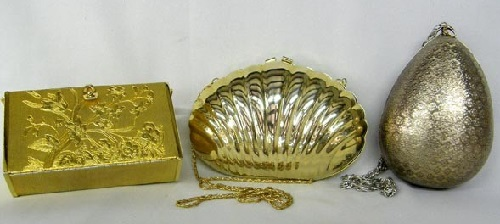 Vintage Walborg Metal Silver & Gold Purses