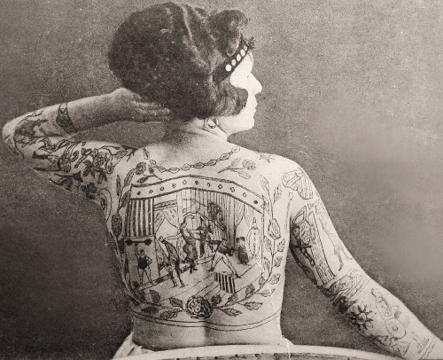 Irma Senta, the original tattooed lady
