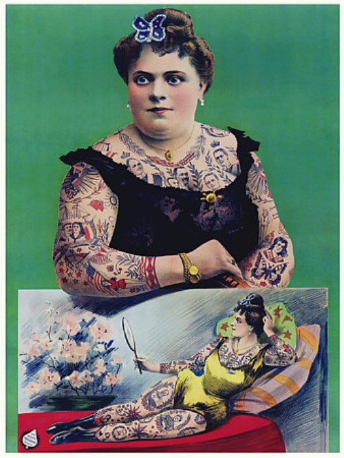 Tattooed Lady Poster 1906