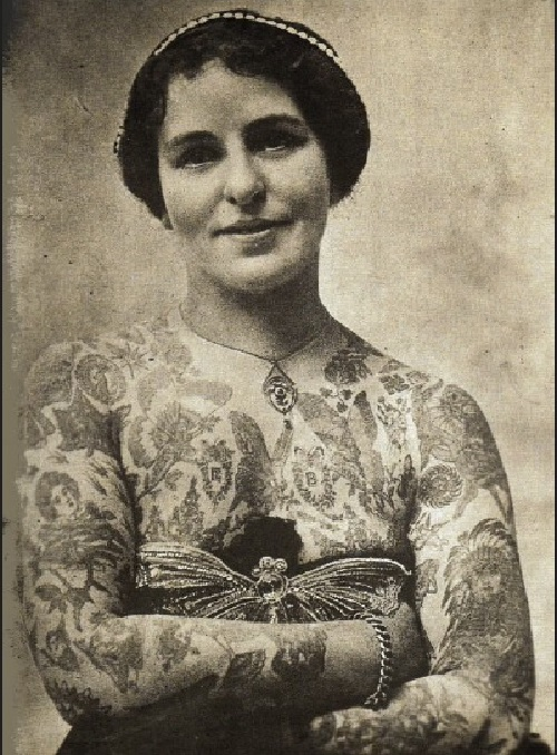 Edith Burchett was the wife of tattoo artist George Burchett