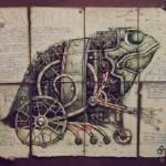 Surreal steampunk world by Vladimir Gvozdev