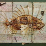 Fish. Surreal steampunk by Russian mixed-media artist Vladimir Gvozdev
