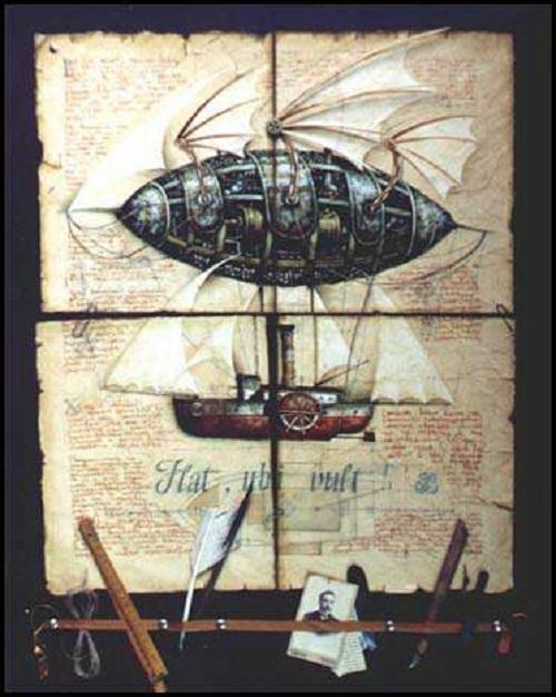 Retro page. Painting by Vladimir Gvozdev