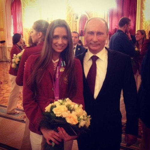 Vladimir Putin and Karolina Sevastyanova most beautiful athlete at Olympics