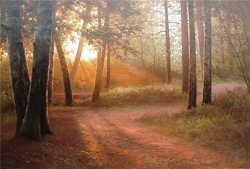 Landscapes transparency in Vyacheslav Khabirov's art