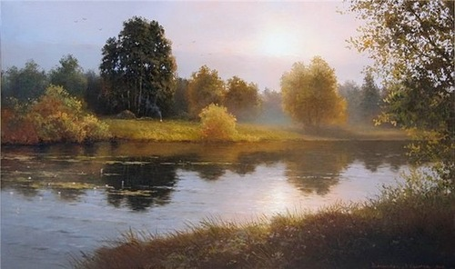 Landscape transparency in Vyacheslav Khabirov's art