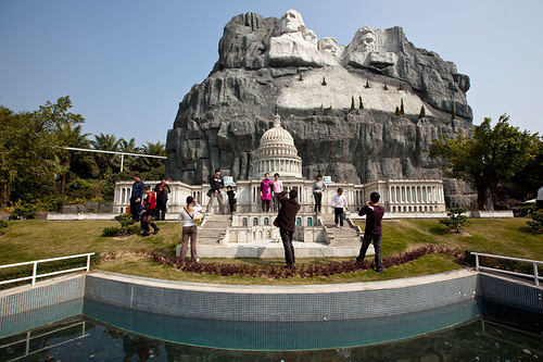 Rome and Mount Rushmore, Windows of the World theme park