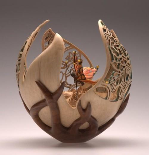woodturning by British artist Joey Richardson