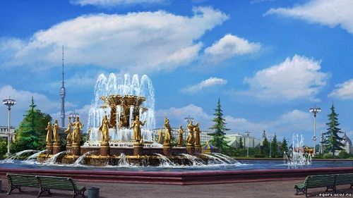 Fountain of Friendship at VDNKh